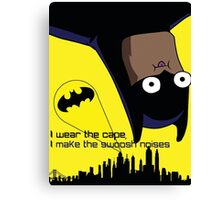 Derpy Batman  Canvas Print