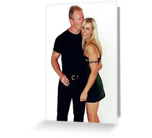 Black & Green Greeting Card