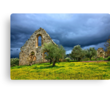 Gothic traces in Greece Canvas Print
