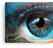 Keep an eye on the forest Canvas Print