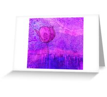 Single Tulip in Purple Greeting Card