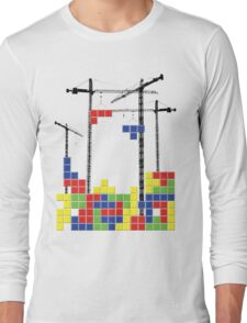 Tetris Skyline Long Sleeve T-Shirt