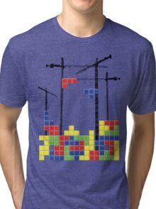 Tetris Skyline Tri-blend T-Shirt