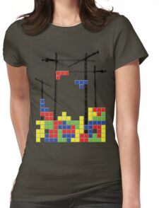 Tetris Skyline Womens Fitted T-Shirt