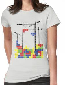Tetris Skyline Womens Fitted T-Shirt