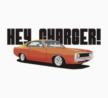 HEY CHARGER - ORANGE Kids Tee