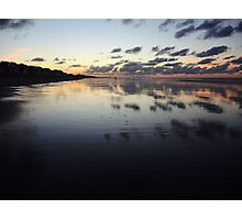 Clouds mirrored on wet beach Photographic Print