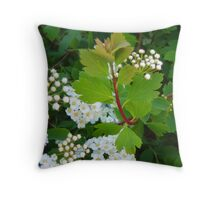 the whiteness Throw Pillow