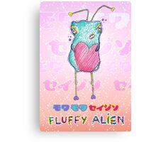 Moku Moku Seijin [Fluffy Alien ♥] Canvas Print