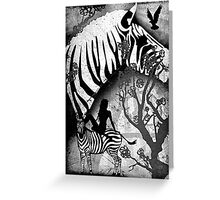 In My Black and White Dream Greeting Card