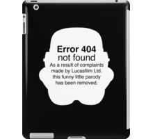 Error 404 iPad Case/Skin