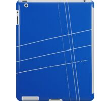 Texture blue sky and white wires iPad Case/Skin
