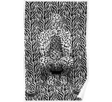 Abstract on Zebra Two Poster