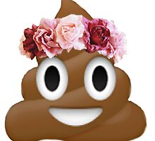 flower crown poop emoji hipster tumblr by alyciathefox