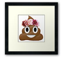 flower crown poop emoji hipster tumblr Framed Print