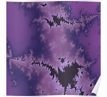 Purple Explosion Abstract Design Poster