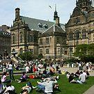 Sheffield Peace Gardens by Mel Preston