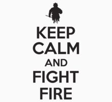 Keep calm and fight fire Kids Clothes