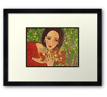 """""""Red sandals and Pomegranates"""" Framed Print"""