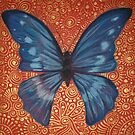Blue Butterfly by Cherie Roe Dirksen
