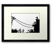 Zombies Attack  Framed Print