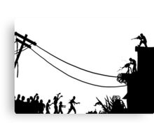 Zombies Attack  Canvas Print