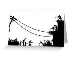 Zombies Attack  Greeting Card