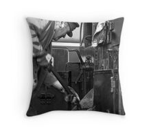 Fueling the fire Throw Pillow