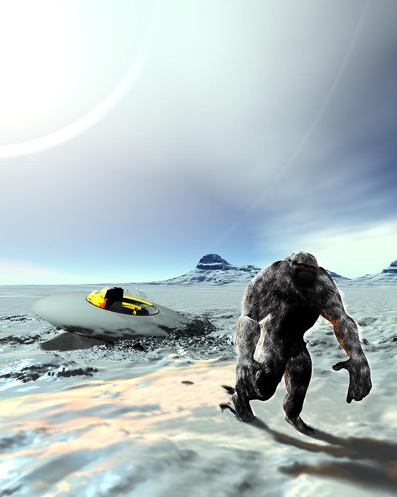 Big Foot UFO Crash by mdkgraphics