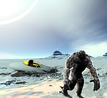 Big Foot UFO Crash by mdkgraphics