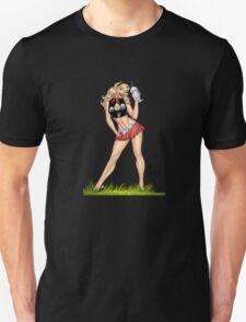 Sexy Blond Milkshake Girl by Al Rio T-Shirt
