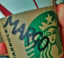 Margo Starbucks Cup by clarebearhh