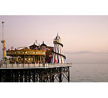 The Helter Skelter on the Pier Photographic Print