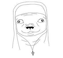 Pug nun Photographic Print