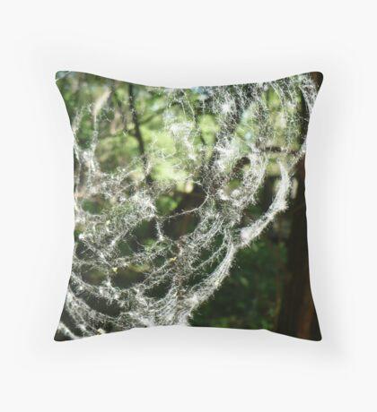 Cotton Web Throw Pillow
