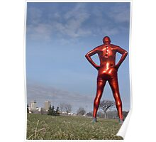 Candy Apple Red Zentai Man 4 Poster
