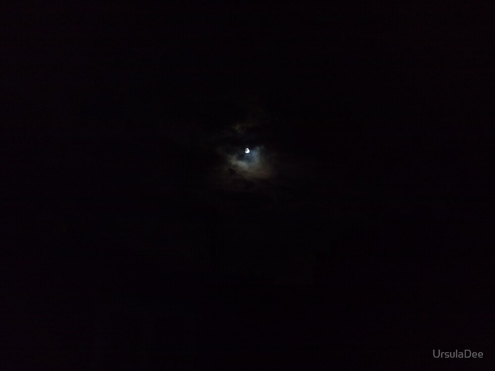 Moon Over Billa Barra Hill Markfield Leicestershire by UrsulaDee