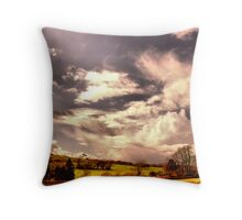 Landscape with cloudy sky Throw Pillow