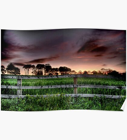 """Rural Sunset"" Poster"