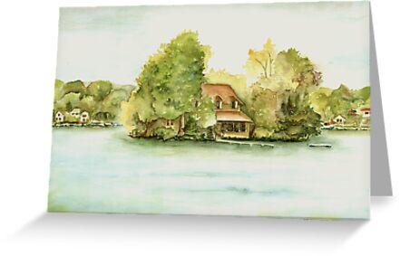 Nickel Island, Big Cedar Lake, Wisconsin by Elizabeth Bravo