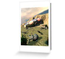 Roswell Like UFO Crash 3 Greeting Card