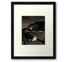 Roswell Like Crash 3 at Night Framed Print