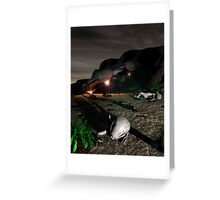 Roswell Like Crash 3 at Night Greeting Card
