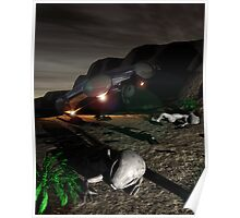 Roswell Like Crash 3 at Night Poster