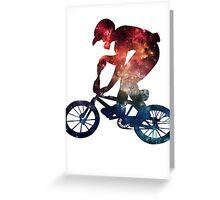 BMX Galaxy Greeting Card