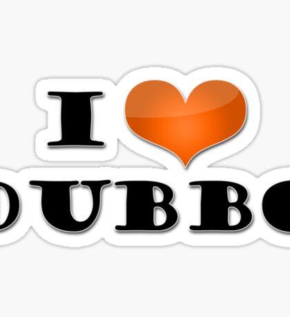 I love Dubbo... in orange! Sticker