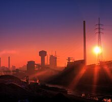 Metal factory in the city... by David Charniaux