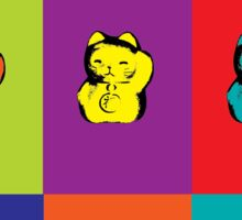 Maneki Neko Kitty Cat Rainbow Pop Art Sticker