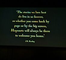 Hogwarts will always be there to welcome you home. by clarebearhh