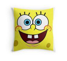Spongebob Face  Throw Pillow